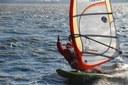 Babbo Natale arriva a Venezia in Windsurf!