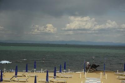 "La spiaggia di Lignano Pineta, Spot ""Al Tenda"". Foto: Ivano De Simon."