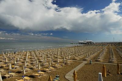 La spiaggia di Lignano Sabbiadoro in corrispondenza della Terrazza a Mare. Foto: Ivano De Simon.